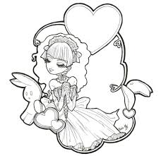 Goth Coloring Pages Gothic Anime Coloring