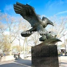 western statues outdoor decor metal eagle bronze hawk sculpture for cowboy ornaments inc horse