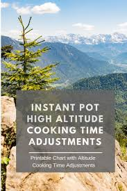 Orion Cooking Chart Instant Pot High Altitude Cooking Time Adjustments Healthy