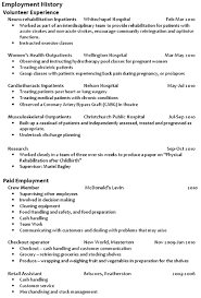 Resume Work History Examples - Template