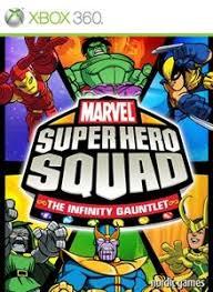 infinity xbox 360. marvel super hero squad: the infinity gauntlet xbox 360 front cover