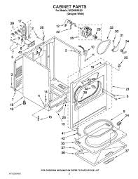whirlpool dryer schematic wiring diagram wed4850xq0 whirlpool wed4850xq0 whirlpool corporation appliance parts description whirlpool dryer schematic wiring diagram