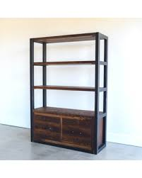 bookcase with drawers. Beautiful With Industrial Bookcase With Drawers  Steel Frame Reclaimed Wood Shelving Unit To