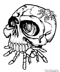 Small Picture Skulls Eat Spider Coloring Pages Printable