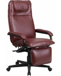 red leather office chair. Mabire Reclining Burgundy (Red) Leather Executive Adjustable Swivel Office Chair With Footrest (1 Red .