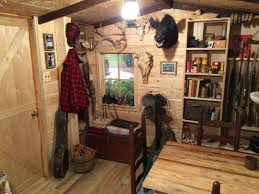 Manly Makeover From Unfinished Basement To Rustic Log Cabin - Unfinished basement man cave ideas