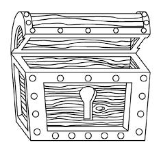Piraat Kleurplaat Schatkist