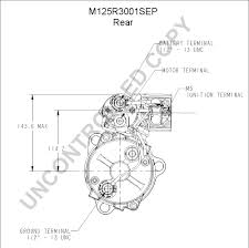 prestolite leece neville m125r3001sep rear dim drawing