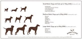 Terrier Size Chart Bolster Dog Bed Midnight Blue Velvet