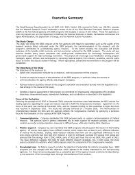 the marketing plan example of a business executive summary   executive summary an assessment of the small business innovation writing a p example of a business plan