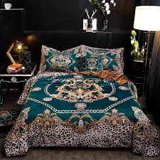 luxury flannel classic leopard print bedding set winter warm fleece soft duvet cover bed sheet pillowcase queen king size 4 oversized duvet covers bedroom
