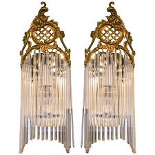 art deco wall sconces. Pair Of Art Nouveau Wall Sconces For Sale At 1stdibs Deco Sconce Design 9