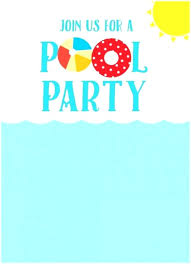 Free Pool Party Invitations Printable Pool Party Flyer Templates Invitation Free Printable