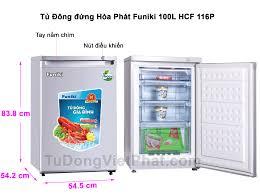 Tủ đông đứng Hòa Phát Funiki HCF 116P 100 lít 4 ngăn - Giá rẻ T11/2020