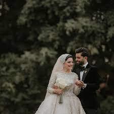 شقيق محمد صلاح وزوجته فى جلسة التصوير الرسمية لحفل زفافه.. صور جديدة