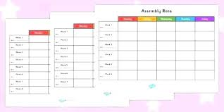 Holiday Planner Template Holiday Work Schedule Template