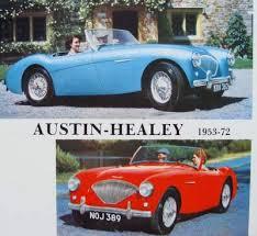 Austin Healey Color Chart Austin Healey 100 4 100 6 3000 Sprite Mk I Iv 1953 1972