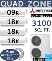 63000 btu quad zone ductless mini split heat pump dual zone senville mini split 24000 btu ac air conditioner w heat pump