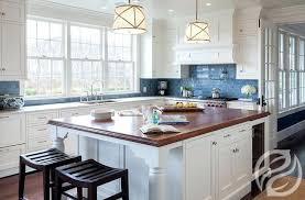 blue and white kitchen cabinets white kitchen cabinets with blue subway tiles blue white washed kitchen
