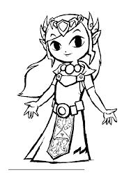 Zelda Nintendo 2 Coloriage Zelda Coloriages Pour Enfants Coloriage Princesse Zelda L