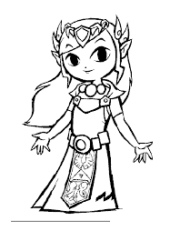 Coloriage Zelda A Imprimer