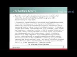 Breakdown Of 2010 Kellogg Mba Admissions Essays Youtube
