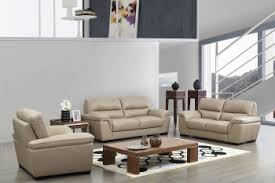 modern leather living room furniture. Contemporary Beige Leather Stylish Sofa Set With Wooden Legs Modern Living Room Furniture