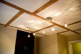 ... Cozy Interior Design For Your Basement With Track Lighting Ideas : Top  Notch Bronze Line With ...