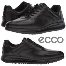 details about ecco aquet sneakers men s walking shoes leather breathable cushioned comfort