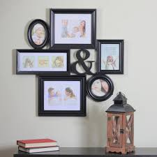 black multi sized photo picture frame collage wall decoration
