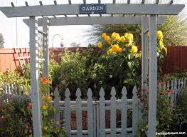 fence garden ideas. arbor for garden made with picket fence design ideas n