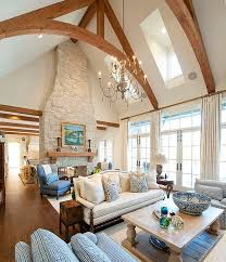 view in gallery skylights bring in ample ventilation in this room with vaulted ceiling