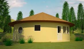 round house plans. South Elevation Round House Plans