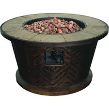 tall portofino round stainless steel gas table fire pit