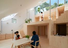 Sloped Roof Bedroom Tomohiro Hata Sets Hillside House In Kobe Beneath Sloping Roof