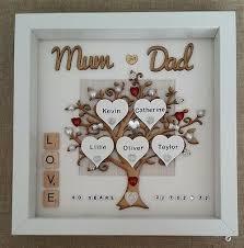 personalised handmade ruby 40th wedding anniversary gift frame mum dad love