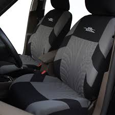 autoyouth brand embroidery car seat covers set universal fit most cars covers with tire track detail styling car seat protector africaetrade