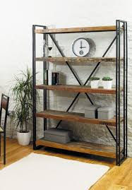 diy metal furniture. Black Dining Table Tasty DIY Industrial Furniture Rack Design With Metal Frame Combined Wood For Shelf And Bookshelf Ideas.jpg Storage Diy