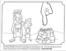 Small Picture Abraham and Isaac Coloring Page Whats in the Bible