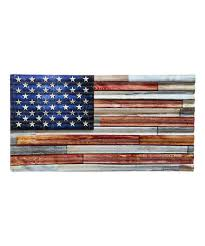 corrugated metal american flag wall sign