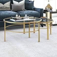 nesting glass side tables round metal tempered glass nesting coffee tables in gold 2 set nest