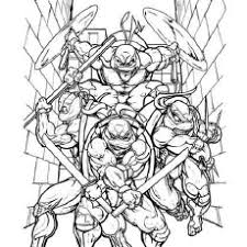 ninja turtle coloring pages. Fine Pages Coloring Pages Of TMNT Who Are Ready For Battle To Ninja Turtle P