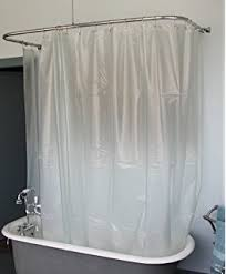 clawfoot tub and shower combo. extra wide vinyl shower curtain for a clawfoot tub/opaque with magnets 180\ tub and combo