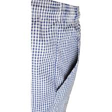 chefs unisex small check trousers check small