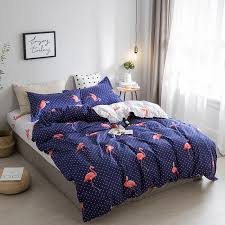hot sofo 4pcs blue purple flamingo bedding sets velvet duvet cover sets king queen full twin size newchic
