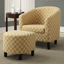 Grey And Yellow Accent Chair With Barrel Furniture Chairs Gallery