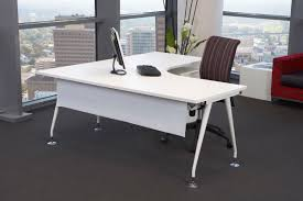 minimalist office furniture. Splendid Minimalist Desk For Modern Home Office Design: Terrific With Gray Flooring And Furniture