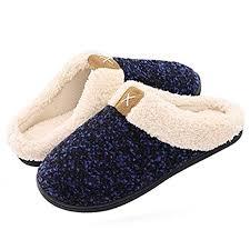 House Shoe Size Chart Amazon Com Hiko23 House Shoes For Women Men Comfy Faux Fur