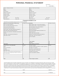 personnal financial statement 5 personal financial statement template excel registration