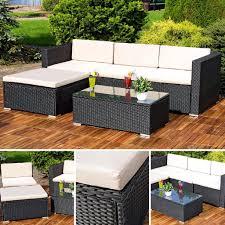 Polyrattan Lounge Gartengarnitur Sofa Tisch Und Real